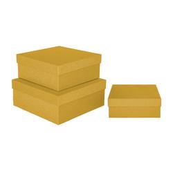 - Kikajoy Altın Simli Kare Kutu 3'lü