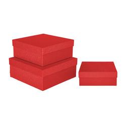 - Kikajoy Kırmızı Simli Kare Kutu 3'lü