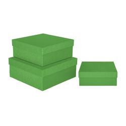 - Kikajoy Yeşil Simli Kare Kutu 3'lü