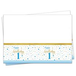 - Küçük Yıldızlar 1 Yaş Erkek Plastik Masa Örtüsü 120x180 cm
