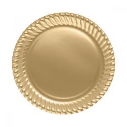 - Altın Karton Tabak 23 cm 8'li