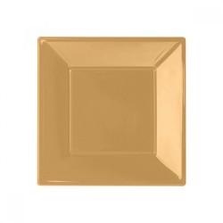 - Altın Plastik Kare Tabak 17 cm 8'li