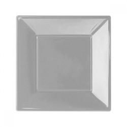 - Gümüş Plastik Kare Tabak 23 cm 8'li