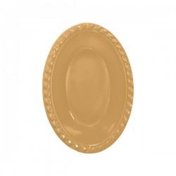 - Altın Plastik Oval Kase 12x17 cm 8'li