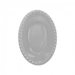 - Gümüş Plastik Oval Kase 12x17 cm 8'li