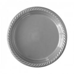 - Gümüş Plastik Tabak 22 cm 25'li