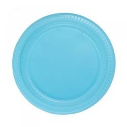 - Mavi Plastik Tabak 22 cm 25'li