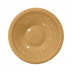 - Altın Plastik Yuvarlak Kase 22 cm 6'lı