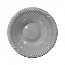 - Gümüş Plastik Yuvarlak Kase 22 cm 6'lı