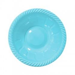 - Açık Mavi Plastik Yuvarlak Kase 22 cm 6'lı