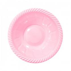 - Pembe Plastik Yuvarlak Kase 22 cm 6'lı