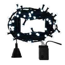 - Kikajoy Yılbaşı Beyaz Büyük Led Işık Eklemeli 80 Ampul 7 m