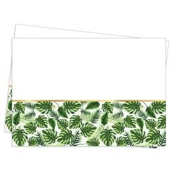 - Altın Simli Yapraklar Yeşil Plastik Masa Örtüsü 120x180cm