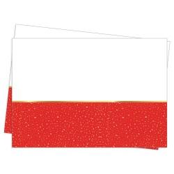 - Parti Zamanı Kırmızı Plastik Masa Örtüsü 120x180cm