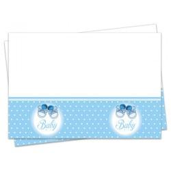 - Mavi Patikler Plastik Masa Örtüsü 120x180 cm