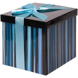 - Mavi Katlanabilir Hediye Kutusu 17,5x17,5 cm