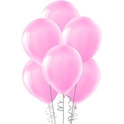Kikajoy - Kikajoy Metalik Bebek Pembe Balon 12li