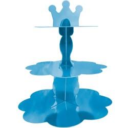 - Metalik Mavi Cupcake Standı