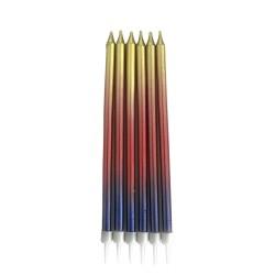 Kikajoy - Metalik Renkli Doğum Günü Mumu 13cm