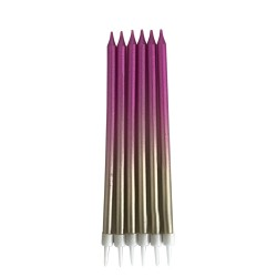 Metalik Renkli Doğum Günü Mumu 13cm - Thumbnail