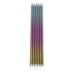 Kikajoy - Metalik Renkli Dogum Günü Mumu 19cm