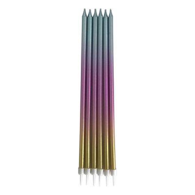 Metalik Renkli Dogum Günü Mumu 19cm