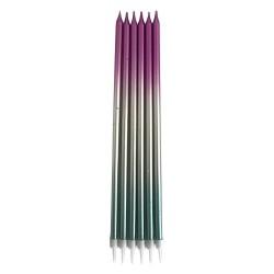 Metalik Renkli Dogum Günü Mumu 19cm - Thumbnail