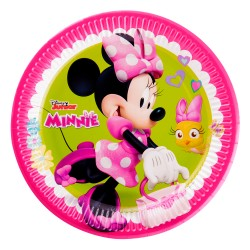 - Minnie Mutlu Arkadaşlar Karton Tabak 23 cm 8'li