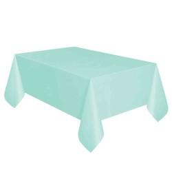 Kikajoy - Mint Yeşili Plastik Masa Örtüsü 137x270 cm