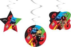 Miraculous Super Heroez Tavan Sarkıt Süs 6lı - Thumbnail