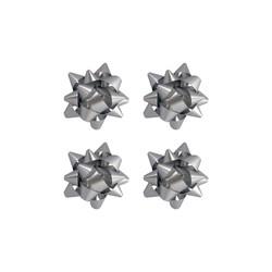 - No:2 Hediye Paketi Süsü Mat Metalik Gümüş Renkli 100 Ad