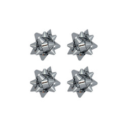 - No:2 Hediye Paketi Süsü Metalik Gümüş Renkli 100 Ad
