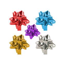 - No:5 Hediye Paketi Süsü Metalik Karışık Renkli 24 Ad