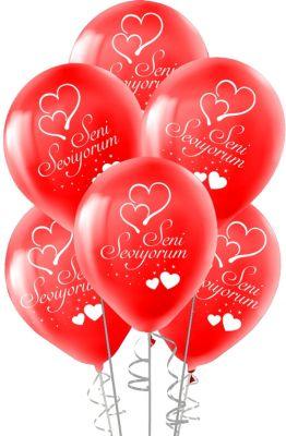 Seni Seviyorum Baskılı Balon 12