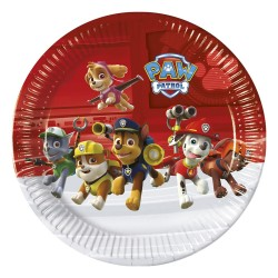- Paw Patrol Ready For Action Karton Tabak 23 cm 8'li