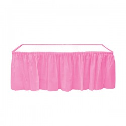 - Pembe Plastik Masa Eteği 75x426 cm