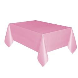 - Pembe Plastik Masa Örtüsü 137x270 cm