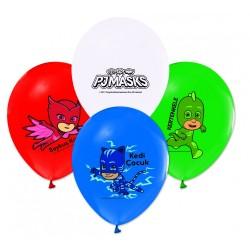 - PijaMaskeliler Baskılı Pastel Balon