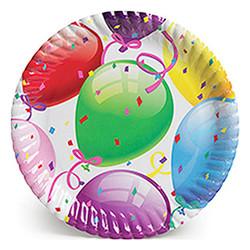 - Rengarenk Balonlar Karton Tabak 23cm
