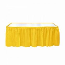 Kikajoy - Sarı Plastik Masa Eteği 75x426 cm