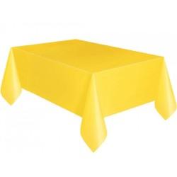 Kikajoy - Sarı Plastik Masa Örtüsü 137x270 cm
