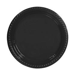 Kikajoy - Siyah Plastik Tabak 22 cm