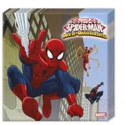 - Spiderman Savaşçı Kağıt Peçete 33x33 cm 20'li
