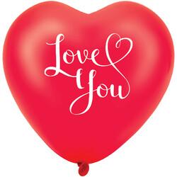 Kikajoy - Kikajoy Kalp Balon I Love You Kırmızı 8li