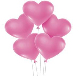 Kikajoy - Kikajoy Kalp Balon Pembe 8li