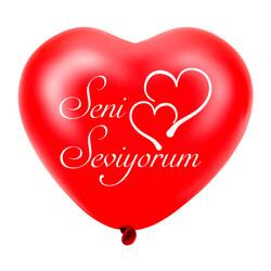 Kikajoy - Kikajoy Kalp Balon Seni Seviyorum Kırmızı 8li