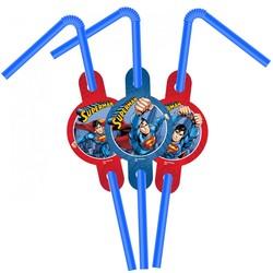 - Superman Lisanslı Pipet 6'lı