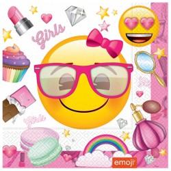 - Süslü Emoji Kağıt Peçete 33x33 cm 20'li