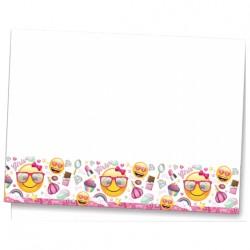 - Süslü Emoji Plastik Masa Örtüsü 120x180 cm