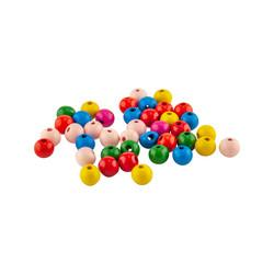 Kika - Tahta Boncuk 40lı Karışık Renkli